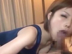 Best Japanese chick Hikaru Kirameki in Incredible Blowjob/Fera, Fetish JAV clip
