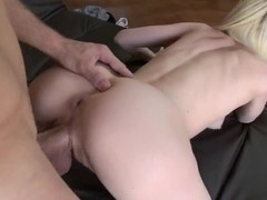 Amazing blowjob done by a sweet blondie Lea