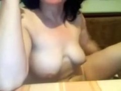 Lucky fella team-screwed his busty girlfriend on web camera for me