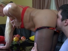 MaturesAndPantyhose Movie: Ottilia A and Adam