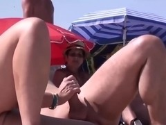 Sluts suck hard dicks on beach in amatur porn video
