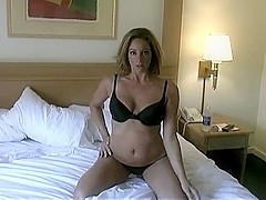 Non-Professional wife playing with her twat
