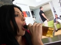 Backstage of satisfying exciting and curvaceous brunette Aletta Ocean