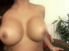 This hot latina brunette has a perfect pair of big natural tits, as you would expect from such a h.