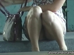 Dixie fucked and facialed in the toilet
