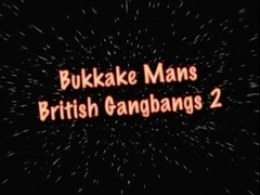 BUKKAKE MANS BRITISH GROUP SEX two Pt1