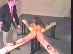 caning this serf girlvery hard-this babe cries