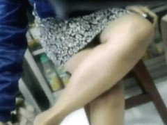 Black Panty Upskirt at Ban Tjie Tong, Surabaya, Indonesia