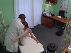 FakeHospital Passionate redheads pussy gets Creampie