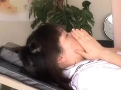 Slut gets her asian cunt fingered in the gynecologist room