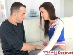 Slutty Belle Knox begged for big cock