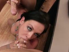 Crazy hot brunette Tory Lane needs to choose one of two candidates