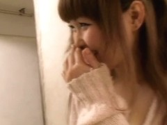 Sexy video of an Asian chick, beautiful down blouse view