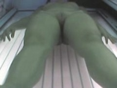 Voyeur exposed angel in Ostrava solarium FULL visit Part 004