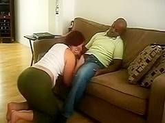 My precious and bootylicious white girlfriend can't live without sucking BBC