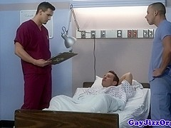 Cum loving doctor cocksucking hung patient