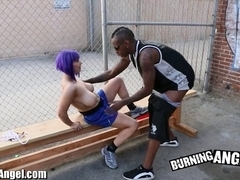 Burning Hotty Large Boobed Emo Interracial Engulf and Fuck