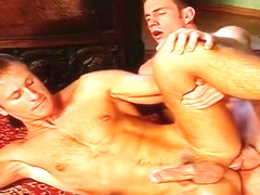 Hunky Military Men in Group Sex Orgy