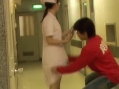 Cute Japanese nurse got into the nasty sharking story