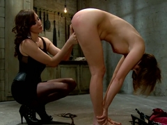 Fabulous fetish porn scene with crazy pornstars Princess Donna Dolore and Maitresse Madeline Marlo.