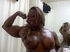 Ebony Body Builder Honey Dayana