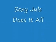 Sexy juls does it all'. blonde girl has oral and cowgirl sex with her bf and swallows his cum.