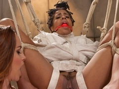 Hottest fetish, lesbian xxx movie with best pornstars Bella Rossi and Kira Noir from Whippedass