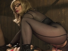 Best anal, fetish adult clip with incredible pornstars Nina Hartley and Maitresse Madeline Marlowe.