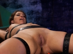 Best fetish, lesbian adult scene with exotic pornstars Isis Love and Jynx Maze from Wiredpussy