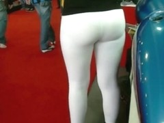 how  sexy is this girl dancing in tight white pants?