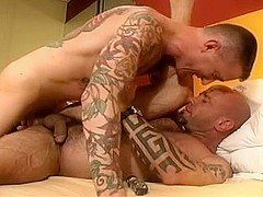Cute gay is drilled in the arse by a fat pecker