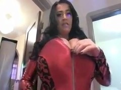 Leanne Red Devil Huge Natural Tits