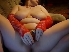 Lascivious Obese big beautiful woman GF likes masturbating and engulfing 10-Pounder