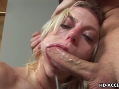 Blond bitch Angela Stone hardcore sex with thin lengthy shlong!