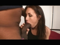 Dark Brown doxy likes a large darksome rod betwixt her legs