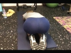 blue leggins gym