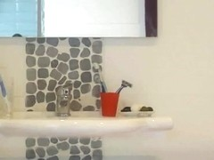 Hidden cam in the bathroom of my grandma caught her nake