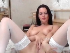 Brunette Anje1lika fingering their holes
