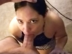 Amateur cumslut sucks cock for a hot load of cum