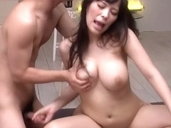 Fabulous Japanese chick Kyouko Maki in Incredible JAV uncensored Group Sex video