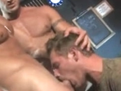 Hot hunk with large cock drills hard his lover's arse