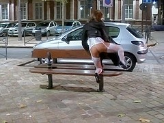 Spreading and toying in public place