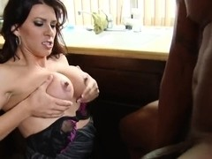 Leena Sky puts some honey on big black tool