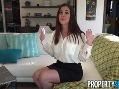 Horny real estate agent busted watching porn