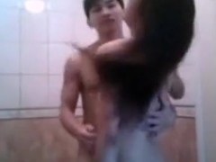 Asian girls bathroom sextape