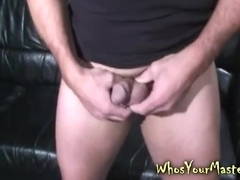Guy Spanked and toy fucked by femdom wife