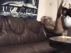 Romanian chick fucked on the couch
