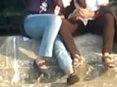 Indian Lesbian Babes Smooch Publicly