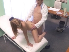 Violette in Innocent blonde gets the doctors massage - FakeHospital