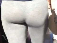 See Thru- Great ass grey leggings